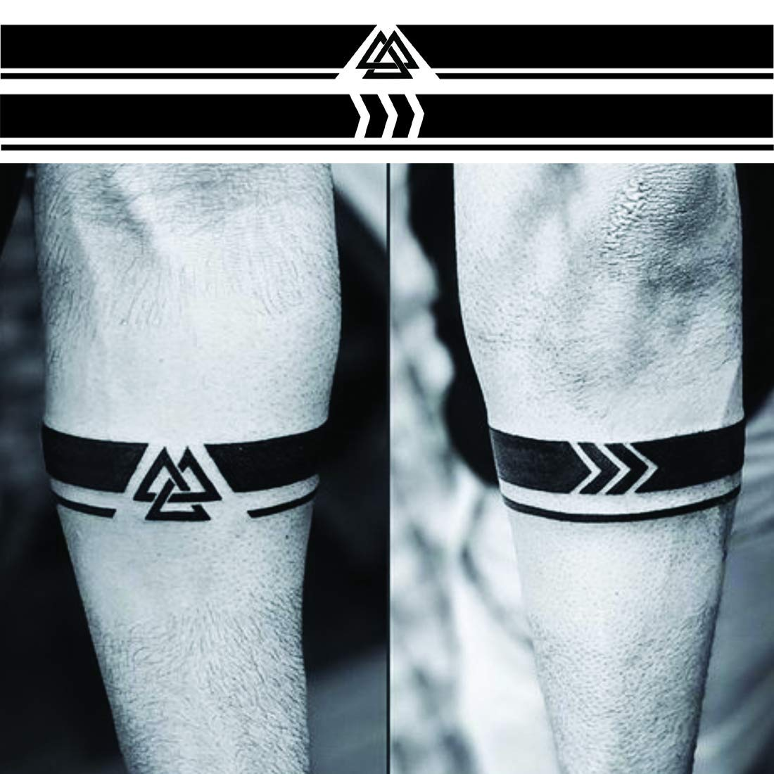 Voorkoms Arrow Triangle Armband Hand Band Men And Women Waterproof Temporary Body Tattoo Amazon In Beauty