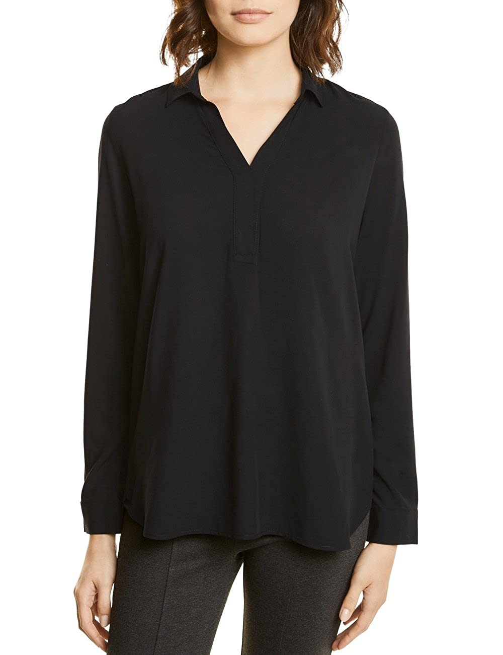 Street One Solid V-Neck Shirt Blouse, Blusa para Mujer