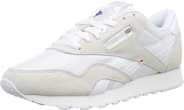 Reebok Herren Classic Nylon Low-Top Weiß White Light Grey