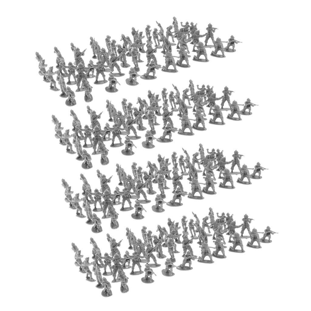 100x Militär Soldaten Spielset Spielzeug 5cm Armee Männer Figuren für