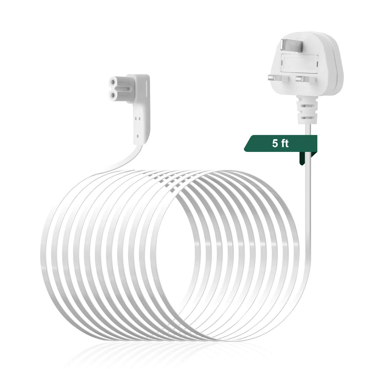 Sonos One and PLAY1 Flexson 5m Power Cable White