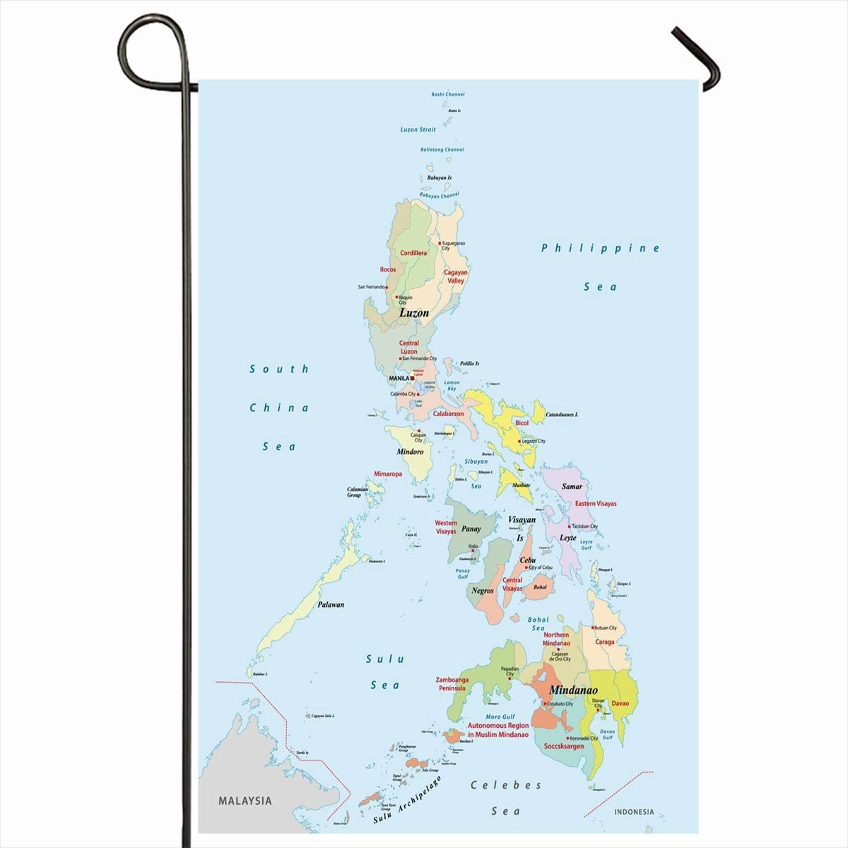 Amazon Com Ahawoso Outdoor Garden Flags 12 X18 Inch Cebu