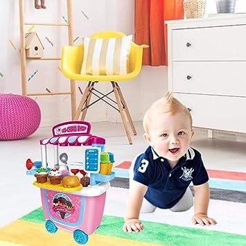 Amazon.com : Centishop BBQ Trolley Toy, Play House Small Supermarket Toy Trolley Car Barrel BBQ Trolley Birthday Christmas Gift for Boys Girls Kids : Baby