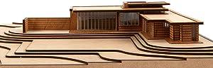 Frank Lloyd Wright Usonian House Scale Model Kit Mid-Century Modern Architecture Wood Building Model 10