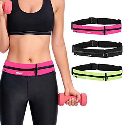 b0e870de949b Yoomo Running Belt Reflective Waist Bag Waterproof Fanny Pack, Unisex  Travel Phone Holder Money Waistband Fits Up to 6.5 Inch, for Walking  Jogging ...