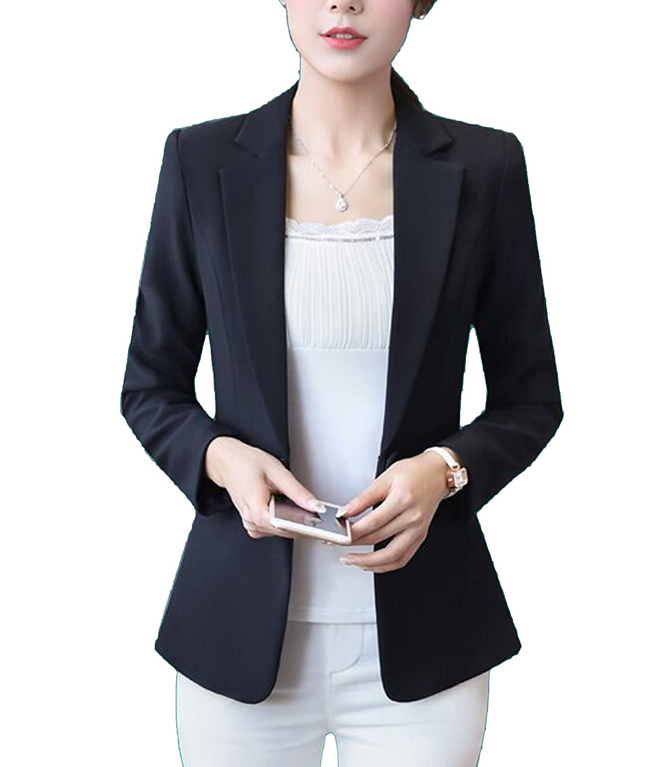 ae91802f7 ... blazer,1 button jacket,Exquisite little pocket,Shawl collar and Notch  sollar suits.elegant,noble,modest,chic,fashion,slim fitted. Fit for  spring/autumn ...