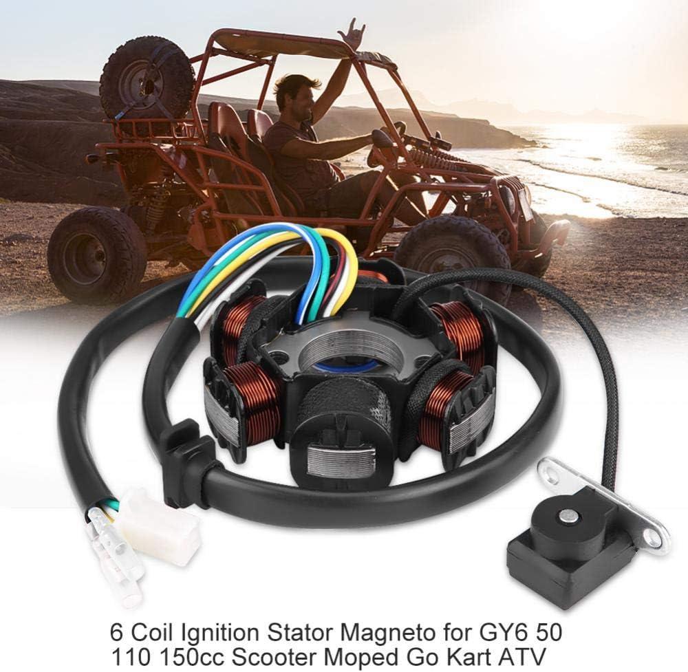 Magneto del estator de encendido de 6 bobinas para GY6 50110 150cc Scooter ATV ciclomotor Kart