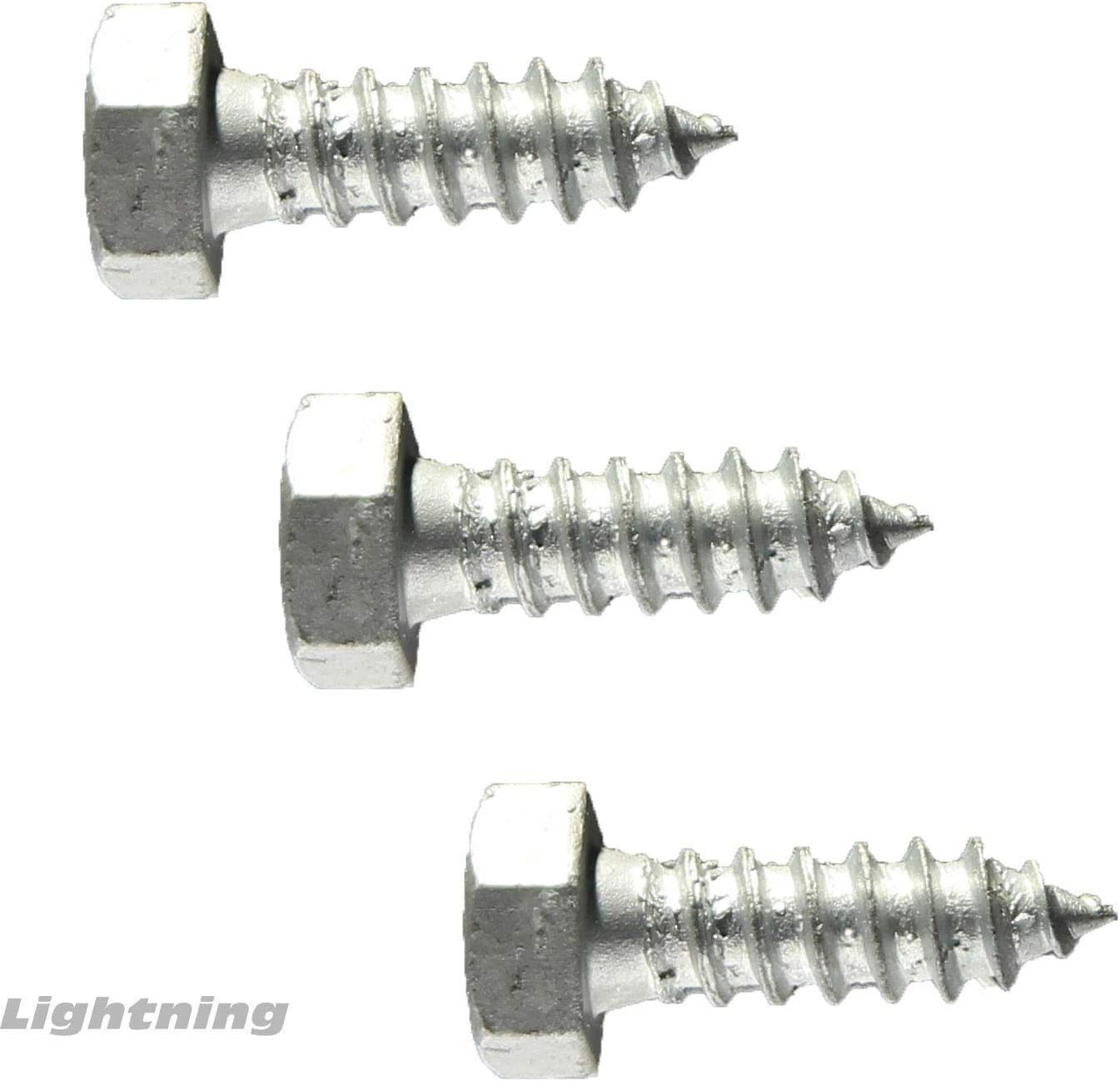 Lag Bolt Screw Hot Dipped Galvanized A307 Alloy Steel 1//2 x 6 Qty 50
