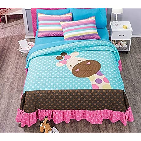 Giraffe 3 Piece Bedspread Set Bundled With Sheet Set Full Queen By Home Kitchen Online Store