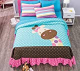 Giraffe 3-Piece Bedspread Set Bundled with Sheet and Window Panels Set Full / Queen by Home & Kitchen Online Store