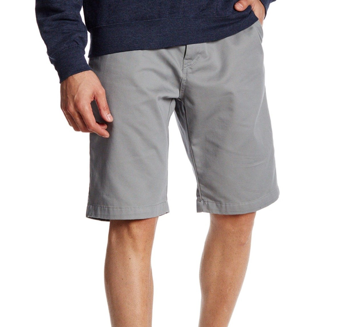 Volcom Mens Grey Vmonty Modern Fit Short Size 34(34, Grey)