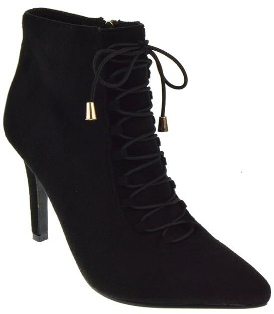 Karissa 03 Womens Stiletto Heel Buckle Ankle Booties Black