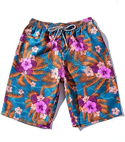 メンズサーフパンツ メンズビーチパンツゆったりビーチホリデークイックドライフラワープリント水泳パンツアウトドアスポーツショーツ メンズ下着 (Size : 5XL)