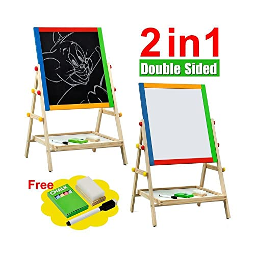 Kids Children S Wooden Double Sided Black And White Board