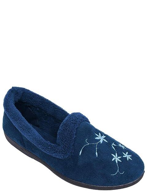 Zapatillas Bordadas De Gamuza Imitación De Mujer: Amazon.es: Zapatos y complementos