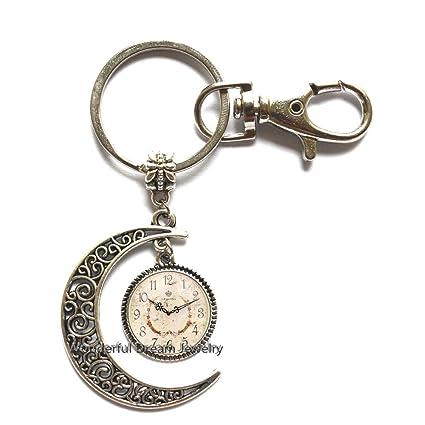PU120 - Reloj de pulsera y reloj hecho a mano, diseño de luna ...