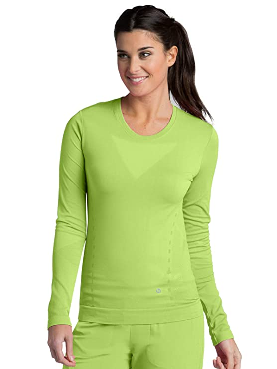 09b5c9af296 Amazon.com: Barco ONE Crew Neck Long Sleeve Tee for Women - Seamless  Medical Scrub Tee: Clothing