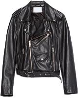 Doris Women's Faux Leather Jackets Zipper Motorcycle Biker Jacket Coat