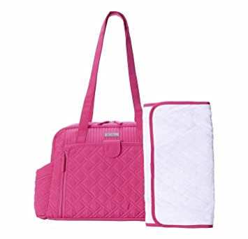 438121a49119 Image Unavailable. Image not available for. Color  Vera Bradley Make A Change  Baby Fuchsia Pink Diaper Bag ...