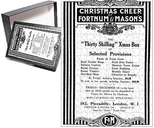 Photo Jigsaw Puzzle of Fortnum a Mason s Christmas Box for soldiers, WW1 (Christmas Hamper Catalogues)