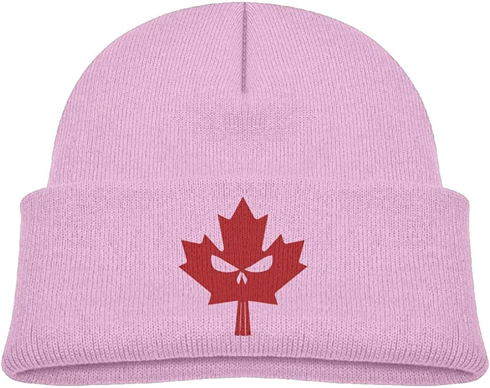 Canadian Maple Skull Wool Caps Trendy Unisex 0-3 Old