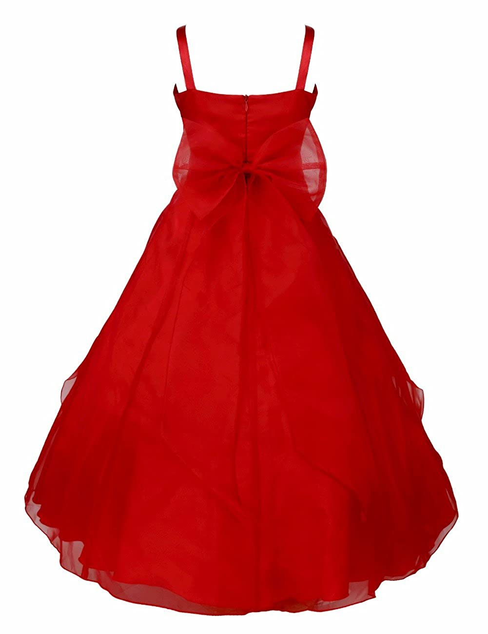 Amazon feeshow kids big girls rhinestone ruffle flower dress amazon feeshow kids big girls rhinestone ruffle flower dress bridesmaid party wedding gown clothing izmirmasajfo