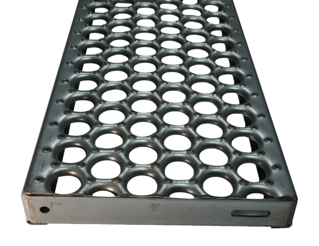 61G13122-36TRD Perf-O Grip 13 Gauge Pre-Galvanized Steel Safety Grating, 36'' Width x 2'' Height x 12'' Depth by Small Parts