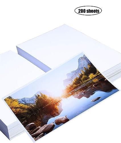 Yeelan 200 hojas de papel fotográfico brillante tarjeta de ...