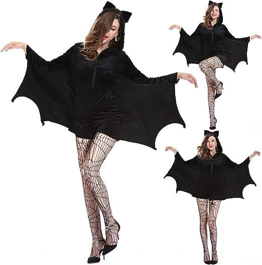 Yzki Disfraz de murciélago de Vampiro para Mujer, alas de ...