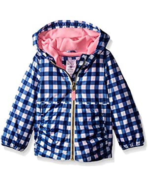 Baby Girls' Printed Fleece Lined Midweight Jacket