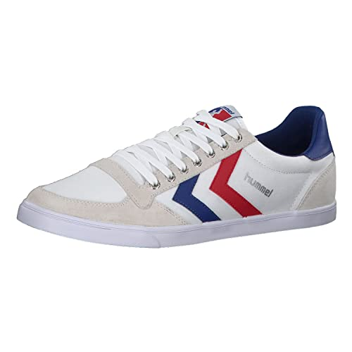 Hummel SLIMMER STADIL LOW, Sneaker, Uomo, Bianco (WHITE/BLUE/RED
