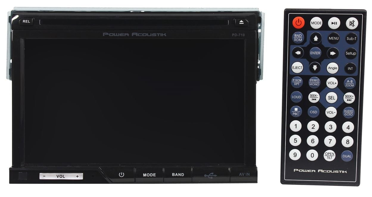 Power Acoustik Pd 710 7 Single Din In Dash Car Dvd Cd Wire Diagram Mp3 Player Receiver With Usb Sd Av Aux Inputs And A Wireless Remote Cell Phones