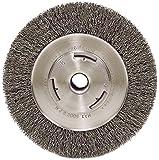 "Weiler 6655 Vortec Pro 7"" Wide Face Bench Grinder Wheel, 0.14"" Crimped Steel Wire Fill, 5/8"" Arbor Hole"
