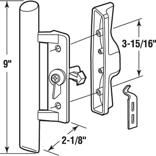 Sliding Glass Patio Door Handle Set With Internal Lock For Viking