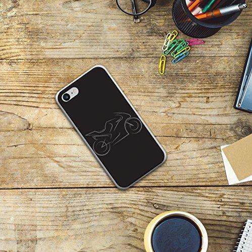 iPhone 8 Hülle, WoowCase Handyhülle Silikon für [ iPhone 8 ] Super Bike Handytasche Handy Cover Case Schutzhülle Flexible TPU - Transparent