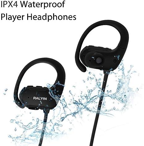 LMJAD Auriculares Bluetooth, Auriculares Deportivos con  wA2hY