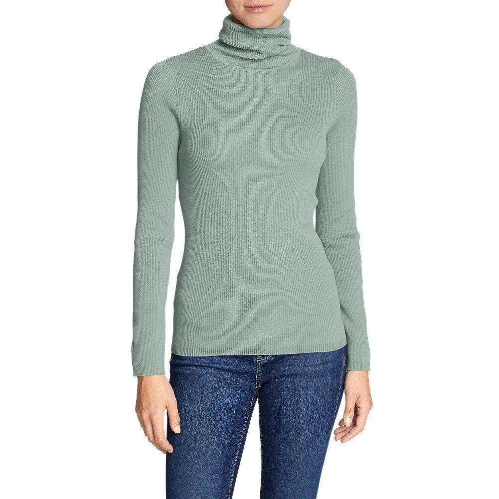 Eddie Bauer Women's Medina Turtleneck Sweater, Celadon Petite L