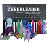 Cheerleading Medal Display - I'm A Cheerleader from Bow to Toe - Wall Hanger for Cheerleader Awards and Ribbons - Medal…