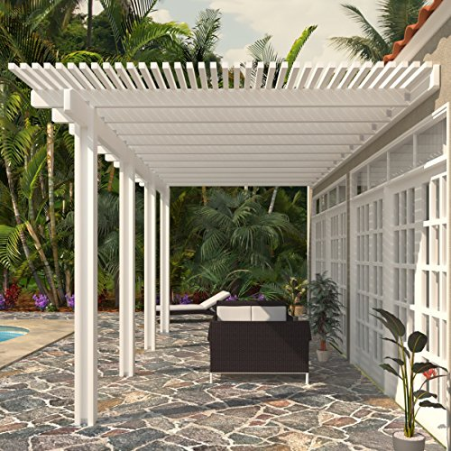 Heritage Patios Aluminum Pergola - 10 ft. x 18 ft. (White) / 20 lbs. by Heritage Patios