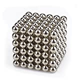 HENEX 216 Pieces Magnets Sculpture Building Blocks Toys for Intelligence - Office Toy & Stress Relief (Silver-5MM)