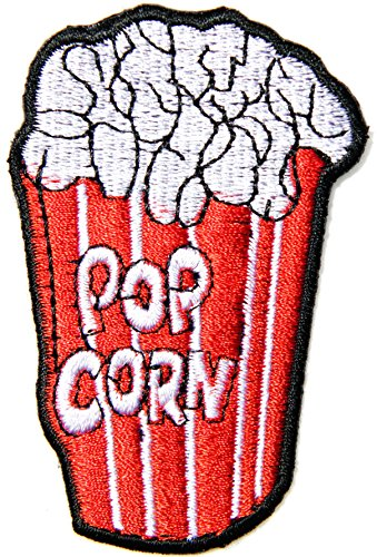 POP CORN Cooking Chef Kid Baby Jacket T-shirt Patch Sew Iron on Embroidered Applique Sign Badge Costum Gift