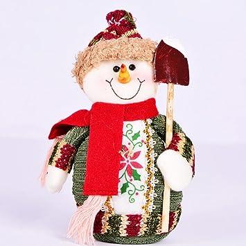 UEETEK Adornos navideños muñeco de nieve mesa decoración centro de ...