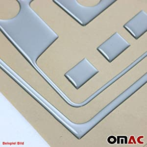 OMAC USA Car Interior Accessories Decoration Dashboard Trim Kit Cover 21 Pcs. Aluminum Look for VW Golf Mk4 2000-2006