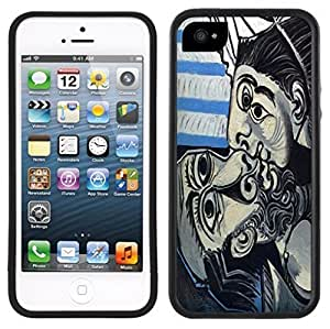 Picasso Kiss Handmade iPhone 5 5S Black Case