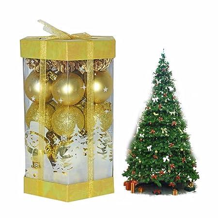 Wonderful Everesta 35 Pcs Decorative Christmas Baubles 5 Cm Bauble Christmas Tree  Decoration Baubles Shatterproof Christmas Tree