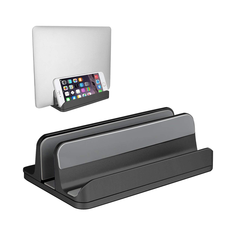 (Upgraded Version) Vertical Laptop Stand, JARLINK Desktop Stand Adjustable Laptop Holder (up to 17.3 inch) Compatible MacBook Pro/Air, Microsoft Surface, Gaming Laptops, Lenovo (Black) by JARLINK