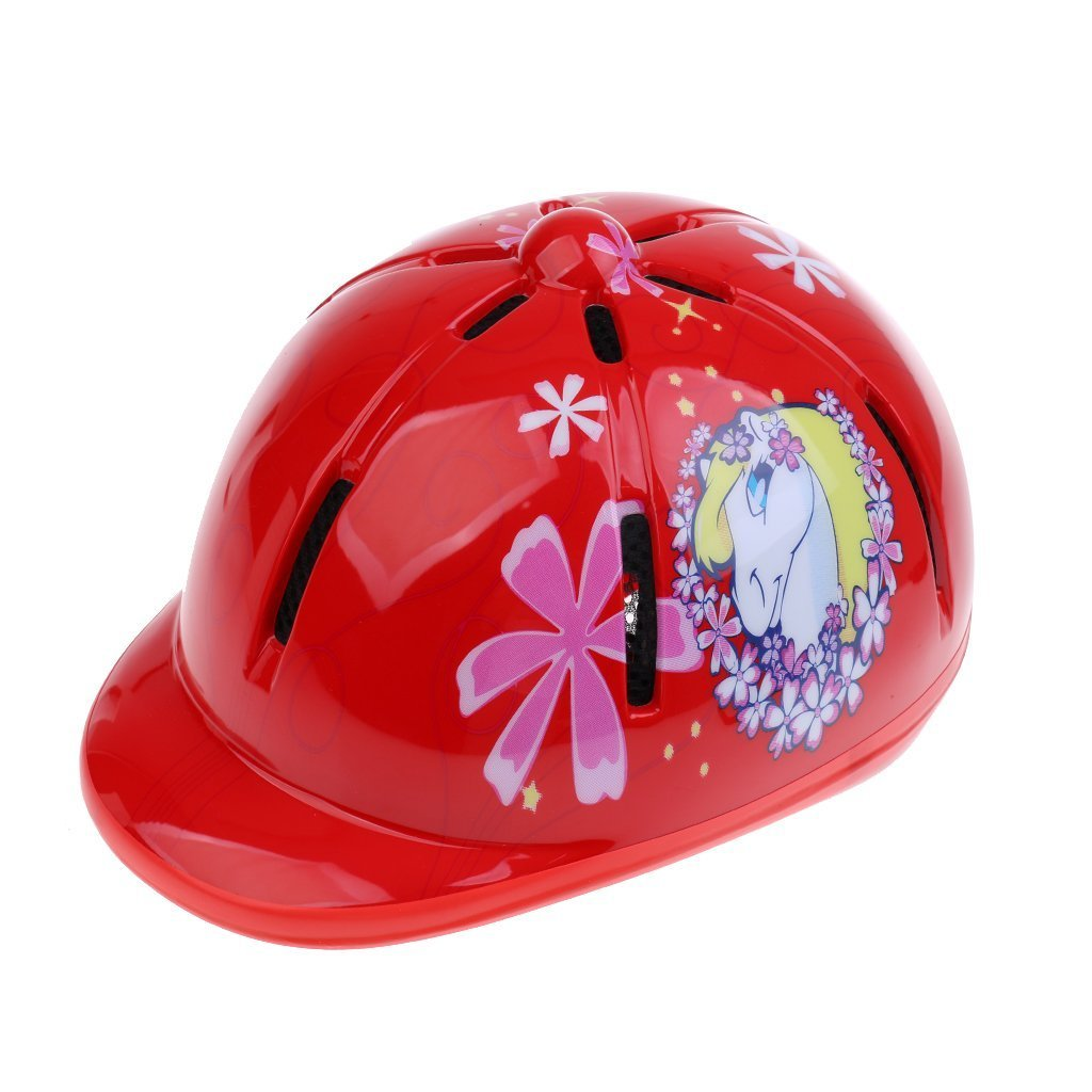 Cikuso Kinder Kinder Einstellbare REIT Hut//Helm Kopf Schutzausruestung Blau