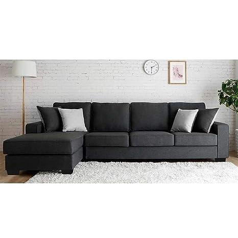 Furny Apollo Five Seater L-Shaped Sofa (Grey)