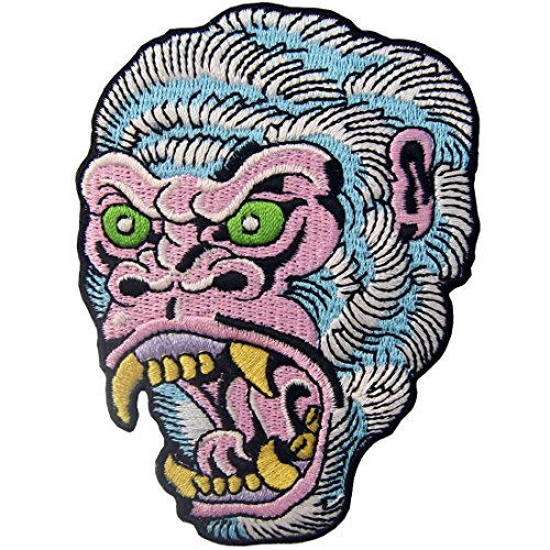 The Roaring Gorilla Patch Embroidered Applique Iron On Sew On (Gorilla Costume Diy)