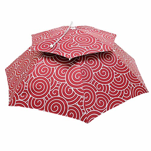 (PANDA SUPERSTORE Red Cloud - Sunshade Hands Free Umbrella Hat for Fishing/ Golf/ Beach 35.4 inch )